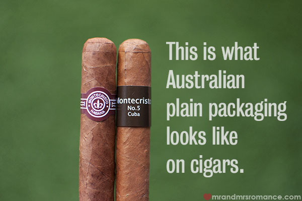 Cigar plain packaging - New Australian laws