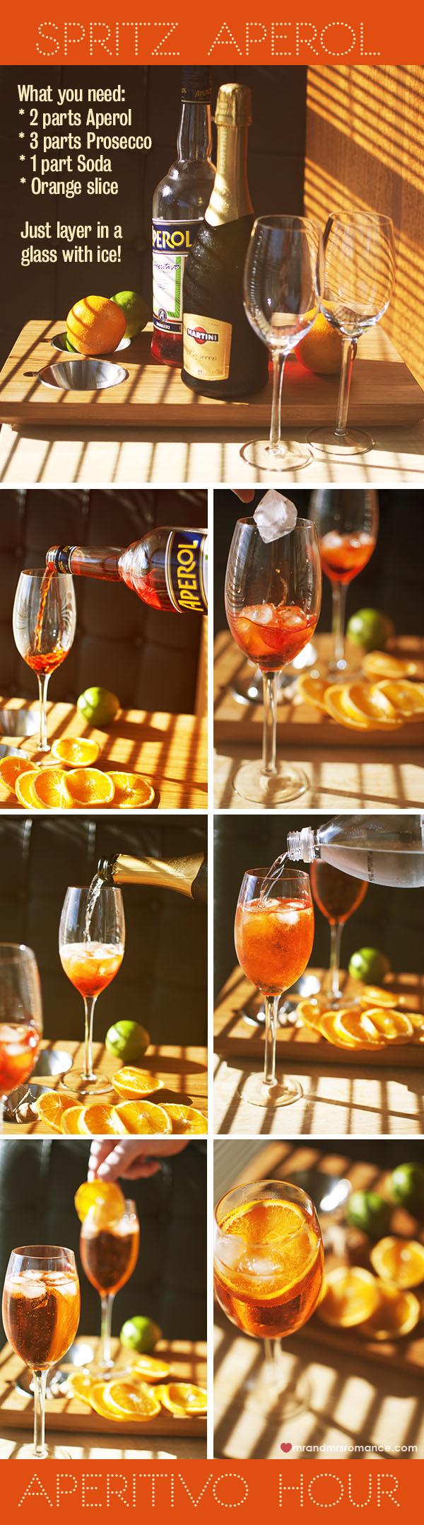 Mr and Mrs Romance - Aperitivo Hour - Spritz Aperol Recipe guide