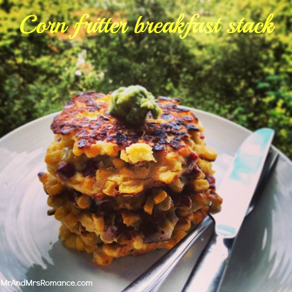 gluten-free corn fritters breakfast food