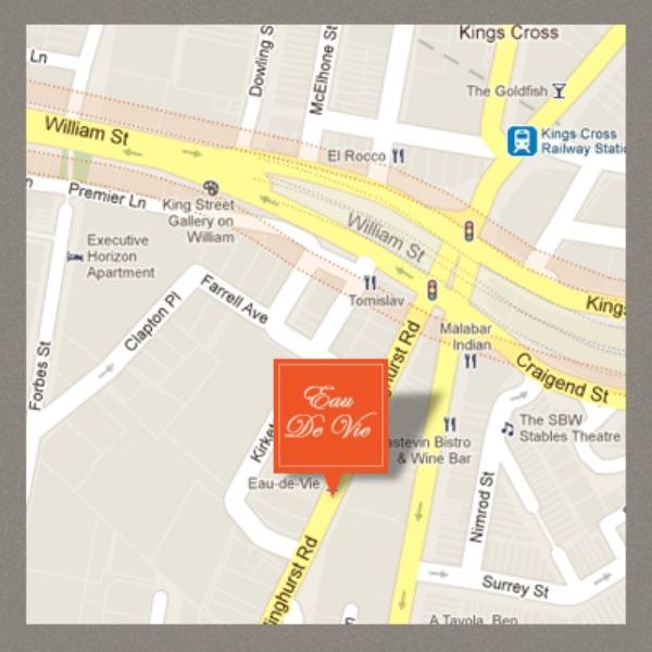Mr and Mrs Romance - Friday drinks - Eau de Vie map