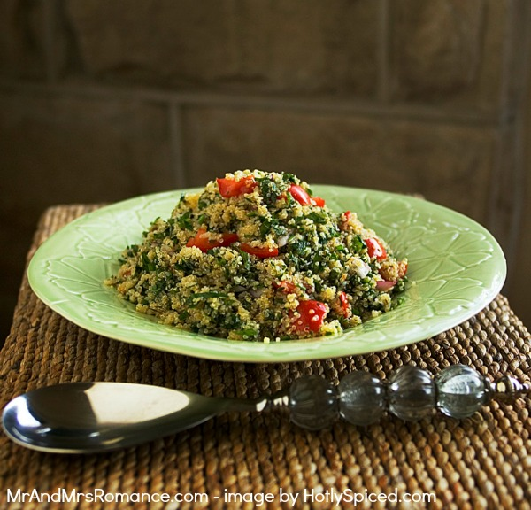 Mr and Mrs Romance - Quinoa salad from Hotly Spiced 1