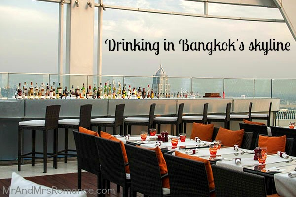 Red Sky Roof Bar in Bangkok Thailand Title