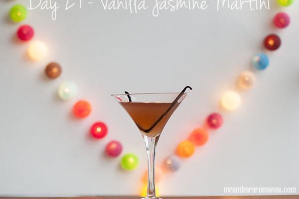 Mr and Mrs Romance - Day 27 - Vanilla Jasmine Martini Cocktail Recipe