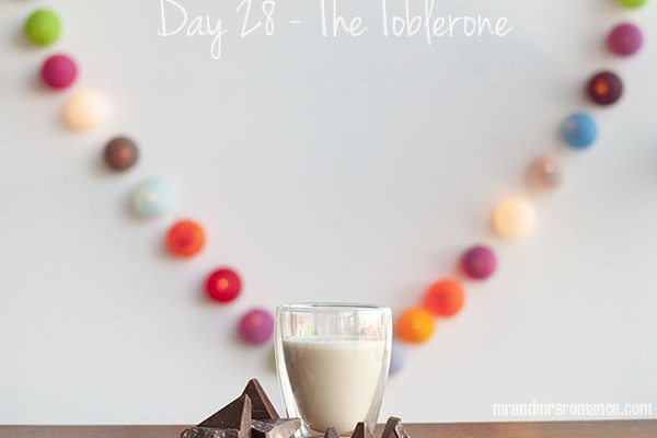 Mr and Mrs Romance - Day 28 - The Toblerone Cocktail Recipe