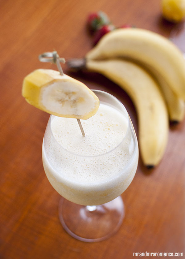 Mr and Mrs Romance - Day 8 - Banana Daquiri Cocktail Recipe