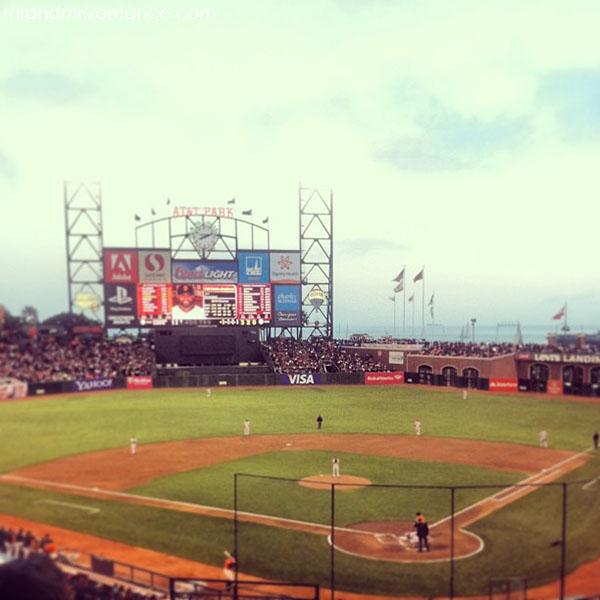 Mr and Mrs Romance - San Francisco giants baseball game