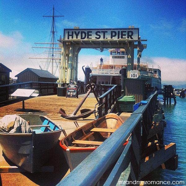 Mr and Mrs Romance - San Francisco hyde st pier
