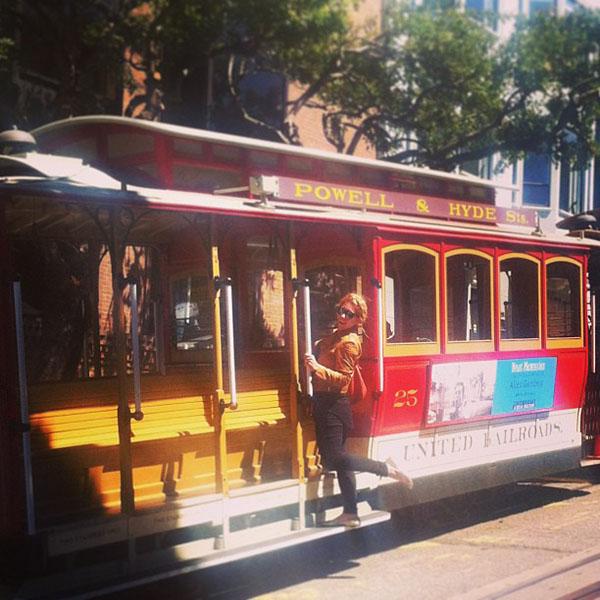 Mr and Mrs Romance - San Francisco trolley