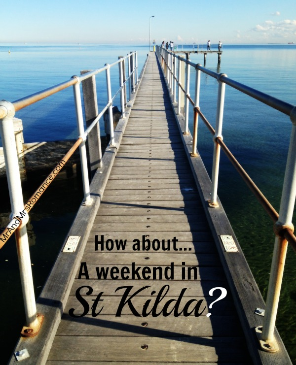 St Kilda and Port Philip Bay. Just round the corner from the Cosmopolitan Hotel.