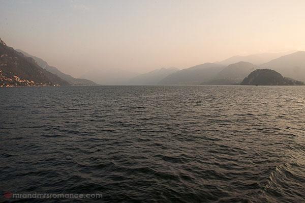 Mr & Mrs Romance - Lake Como at dusk