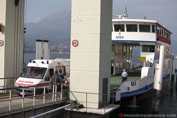 Mr & Mrs Romance - Lake Como car ferries at Bellagio