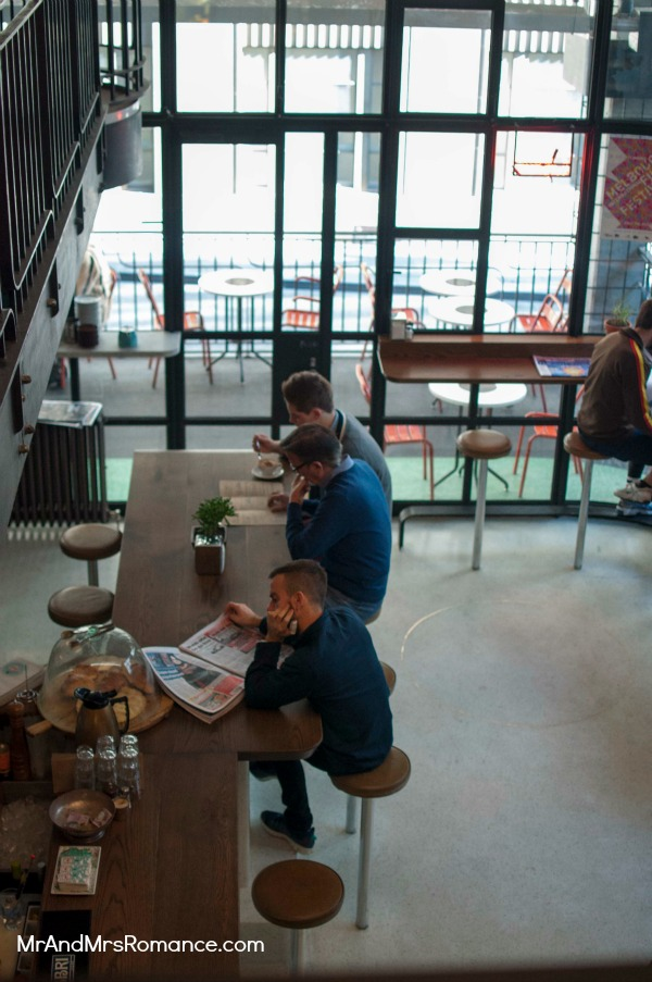 Mr & Mrs Romance - Neapoli Cafe Melbourne - scene below