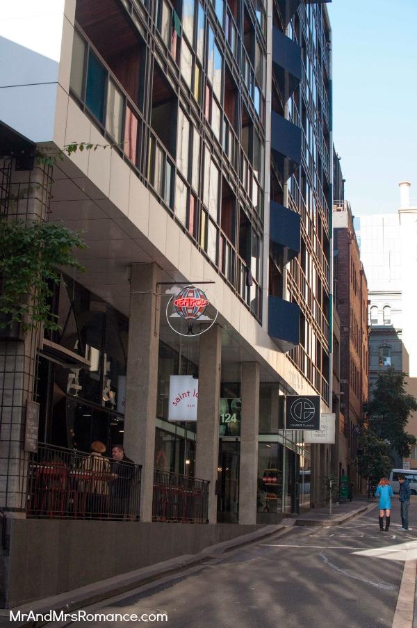 Mr & Mrs Romance - Neapoli Cafe Melbourne - street view