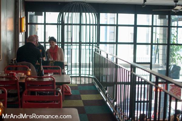 Mr & Mrs Romance - Neapoli Cafe Melbourne - us on mezzanine