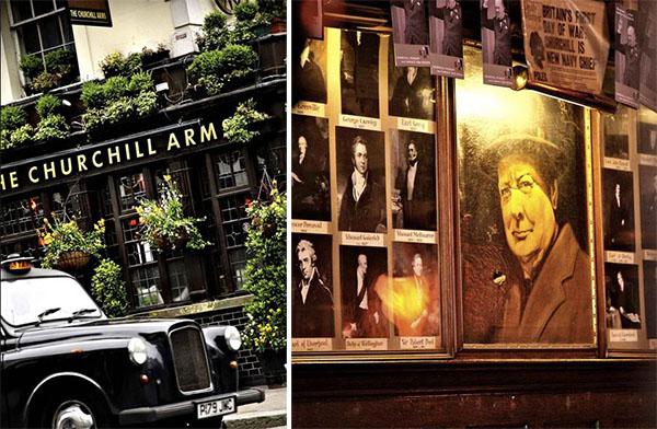 The Churchill Arms pub Kensington London