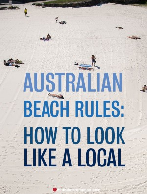 Australian Beach Rules – how to look like a local