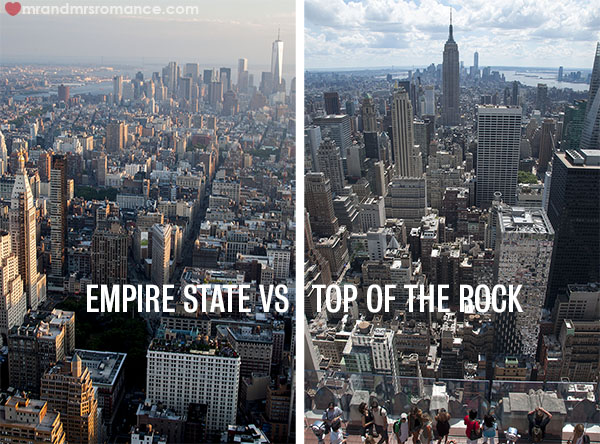 Empire State vs Top of the Rock NYC Views