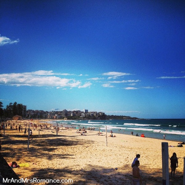 Mr & Mrs Romance - Instagram diary - MM 10 Manly Beach