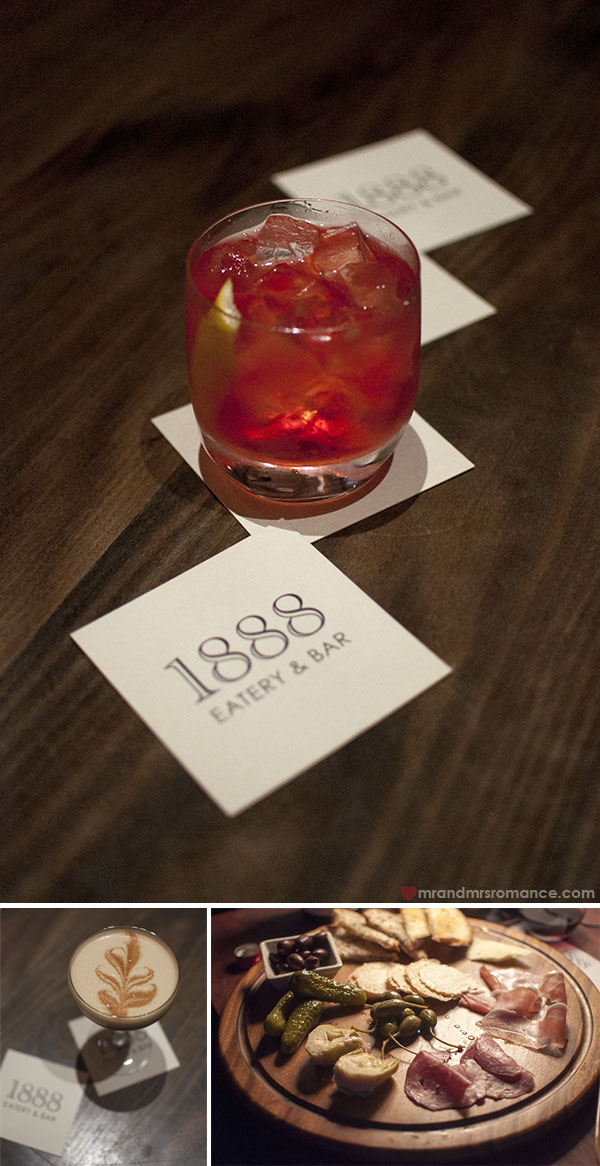 Mr and Mrs Romance - cocktails at 1888 hotel bar pyrmont