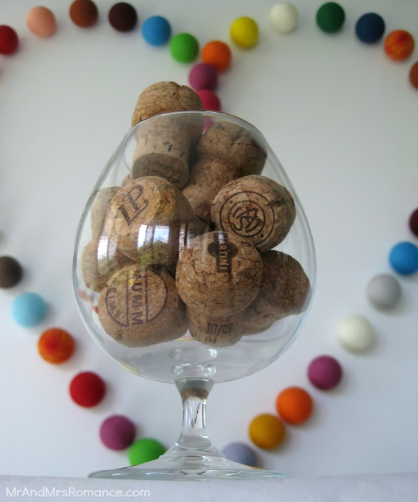 Mr & Mrs Romance  - Friday Drinks - Champagne corks