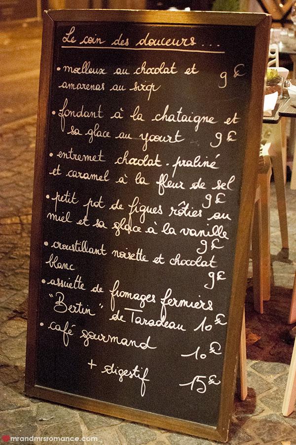 Mr and Mrs Romance - La Table du Pol - Daily menu