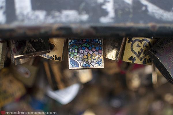 Mr and Mrs Romance - love padlocks in Paris