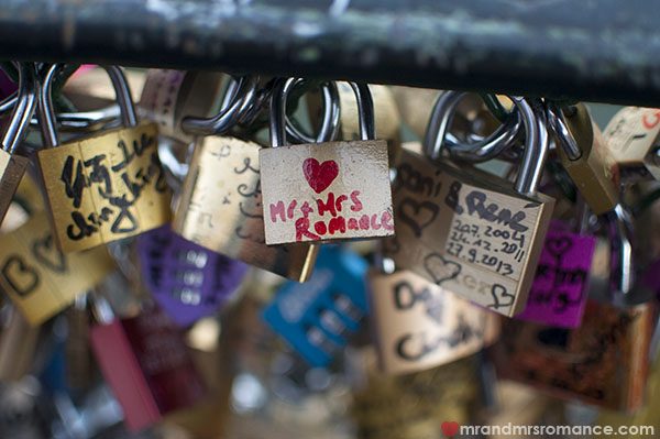 Mr and Mrs Romance - our padlock in Paris