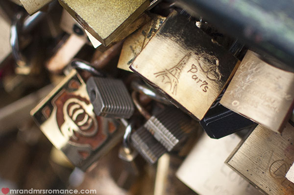Mr and Mrs Romance - padlocks in Paris