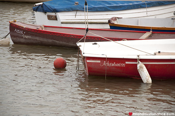 Mr & Mrs Romance - Friday Drinks - 2 boats in Rowhedge