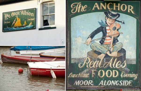 Mr & Mrs Romance - Friday Drinks - 3 The Albion and the Anchor signs