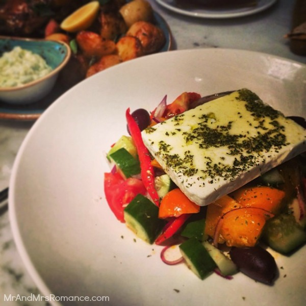 Mr & Mrs Romance - Insta diary - 12 Greek salad at Alpha's