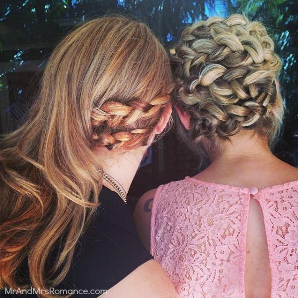 Mr & Mrs Romance - Ista Diary - 16HR2 Mrs R & Sam's hair for the wedding
