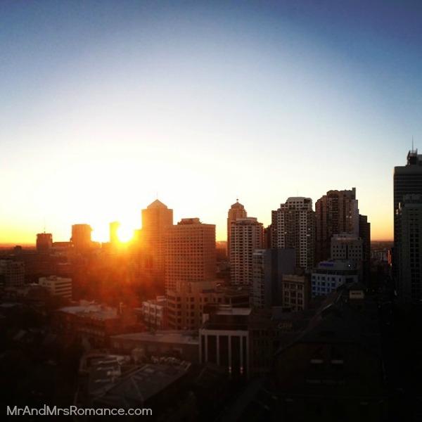 Mr & Mrs Romance - Ista Diary - 6 sunset over the city
