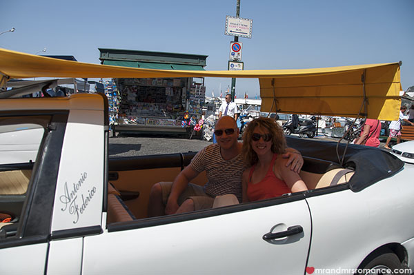 Mr and Mrs Romance - Capri taxi rides