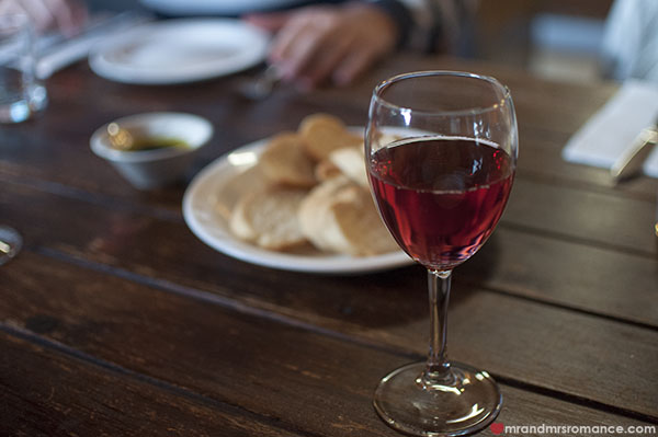 Mr and Mrs Romance - Fiorini's Restaurant - 3 bloodwood rose
