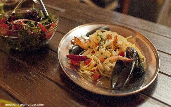 Mr and Mrs Romance - Fiorini's Restaurant - 6 spaghetti alla frutti de mare