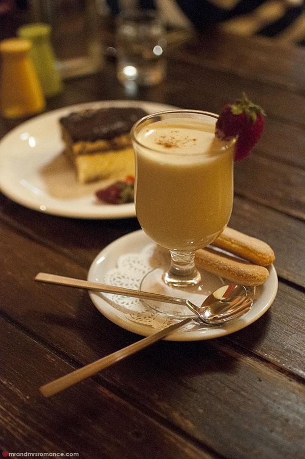 Mr and Mrs Romance - Fiorini's Restaurant - 7 zabaglione