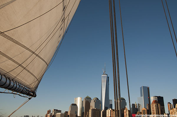 Mr and Mrs Romance - Sunset sails on the Hudson - NYC sailing