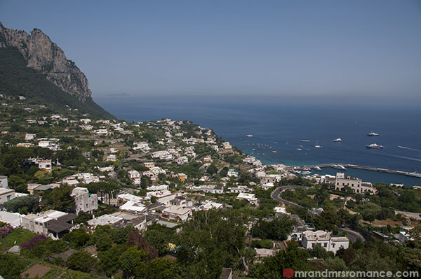 Mr and Mrs Romance - Views from Capri towards Naples