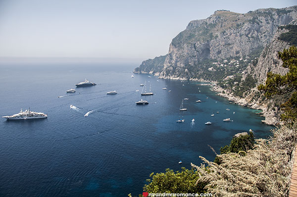Mr and Mrs Romance - views over Capri
