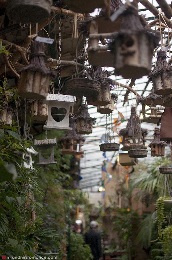 Paris flower markets - birdhouses