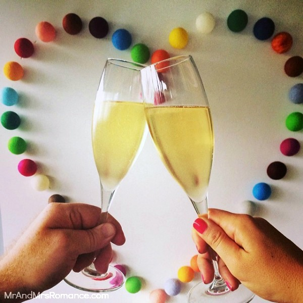 Mr & Mrs Romance - Insta Diary - 12 champers for Valentine's Day