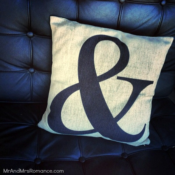 Mr & Mrs Romance - Insta diary - 13 & cushion