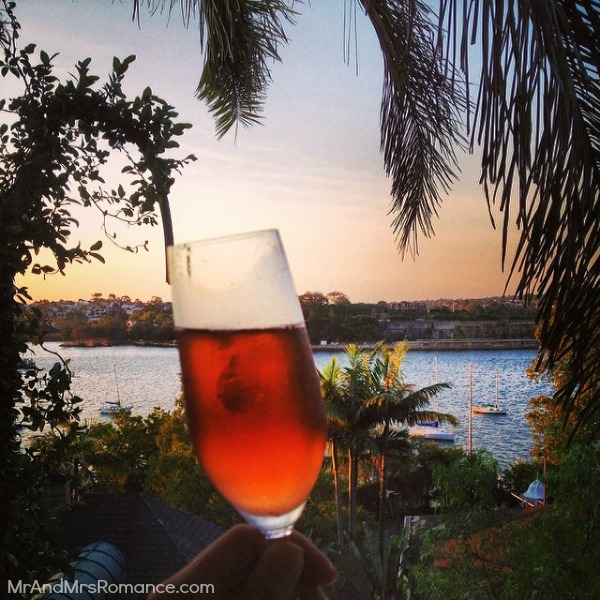 Mr & Mrs Romance - Insta diary - 17 drop of pink Moet at our friends' place in Balmain