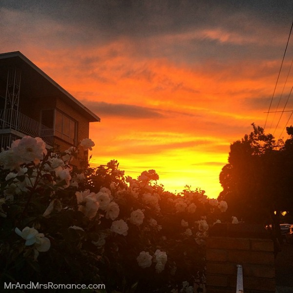 Mr & Mrs Romance - Insta Diary - 3dHR4 Sunset in Melbourne with Mrs R