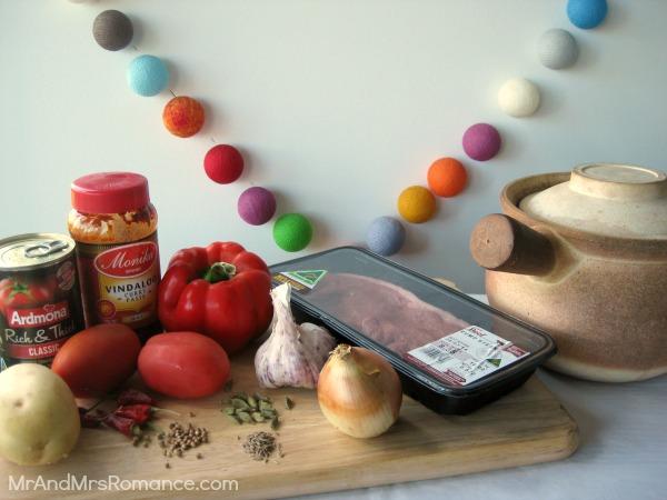 Mr & Mrs Romance - curry series - Vindaloo ingredients