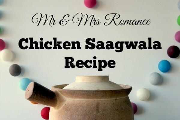 Mr & Mrs Romance - curry series - chicken saagwala title