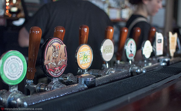 Mr and Mrs Romance - craft beers at the Royal Albert Hotel