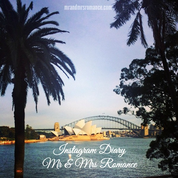 Mr & Mrs Romance - Insta Diary - 1 Sydney Harbour and title