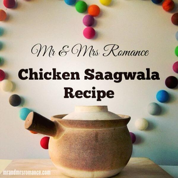 Mr & Mrs Romance - Intsa Diary - 5 Chicken Saagwala recipe